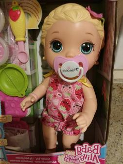BABY ALIVE SNACKIN LILY SUPER SNACKS BLONDE NEW IN BOX SHIPS