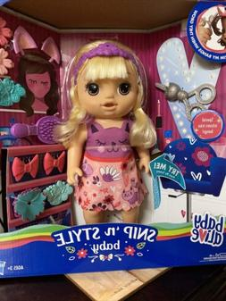 Baby Alive Snip n' Style Baby  Hair Grows & Retracts w Sciss