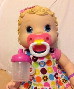 BABY ALIVE WET AND WIGGLES CHANGING TIME MAGNETIC PACIFIER &
