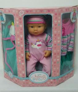MY SWEET LOVE BABY DOLL AND OUTFITS PLAY SET UNICORNS PINK A