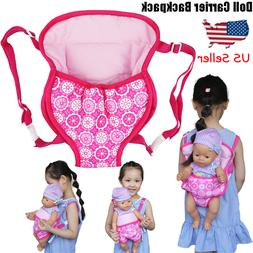 Baby Doll Carrier Backpack Doll Accessories Front/Back Carri