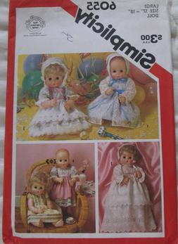 Baby Doll Clothes sewing pattern sm 13 to 14 inch Simplicity