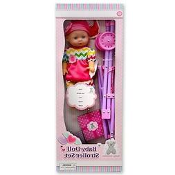 Baby Doll with Stroller Set