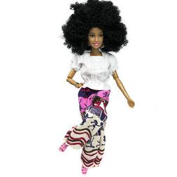 Baby Dolls For Girls Baby Movable Joint African Doll Toy Bla
