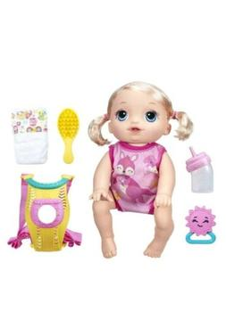 Baby Alive Baby Go Bye Bye Blonde Girl Doll Set Interactive