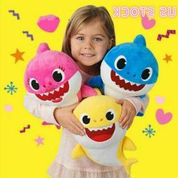 Baby Shark Music Dolls Toys With Music LED Cute Cartoon Shar