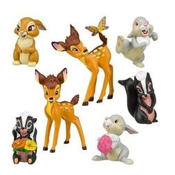 Bambi Thumper Flower Playset 7 Figure Cake Topper * USA SELL