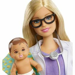 Barbie Baby Doctor Doll With Baby Doll & Accessories Career