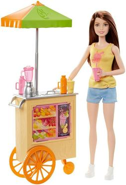 Barbie Careers Juice Bar Playset with Brunette Doll