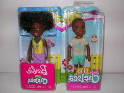 BARBIE CLUB CHELSEA AA DOLL African American BOY AND GIRL DO