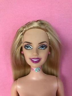 Mattel Barbie doll long silky hair- Belly button- OOAK- No C
