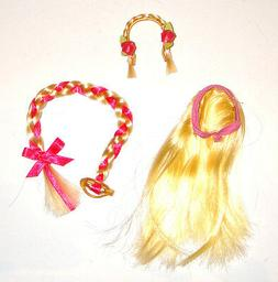Barbie Doll Sized Accessories 3 Hairpieces For Dolls h61