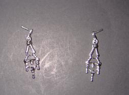 Barbie Doll Sized Jewelry Silvery Earrings For Barbie Dolls