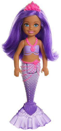 "Barbie Dreamtopia Dolls Chelsea Mermaid Doll 6.5"" with Purpl"