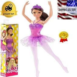 Barbie Fairytale Ballerina Doll - Purple Glitter Skirt