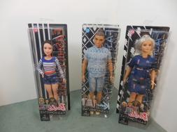 Barbie Fashionista Dolls Lot Set of 3  /Age 3+/#13, 61 & 63
