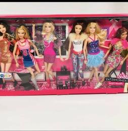 Barbie Fashionista Gift Pack Rare 6 Dolls