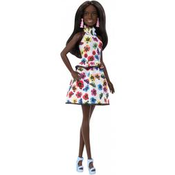 BARBIE Fashionistas African American Doll #106 Floral Dress