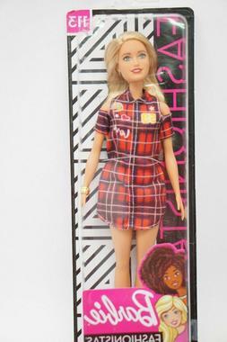 BARBIE Fashionistas Doll #113  New 2019 RED PLAID LOVE DRESS