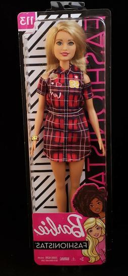 Barbie Fashionistas Doll 113 Red Plaid Shirt Dress Cut Out S