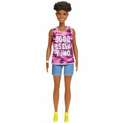 Barbie Fashionistas Doll #128 Good Vibes - Petite - African