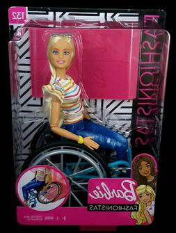 Barbie Fashionistas Doll  with Wheelchair and Ramp #132 New/