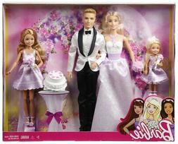 Barbie I Can Be A Bride Wedding Day Set Exclusive 4 Pack - B