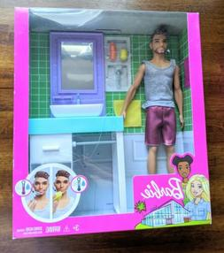 Barbie Ken Doll and Bathroom Set Brand NEW!