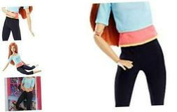 Barbie Made to Move Doll, Blue & Pink Top