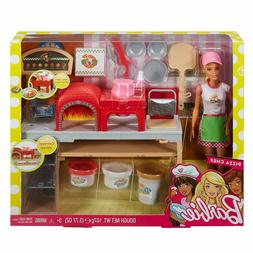 BARBIE PIZZA CHEF DOLL and Playset  Blonde FHR09 Ages 3+