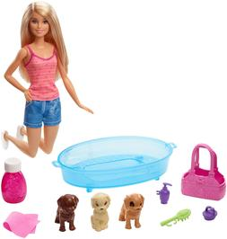 Barbie Puppy Bath Time Doll Playset