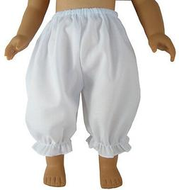 """Basic Plain White Bloomers made for 18"""" Dolls such as Americ"""