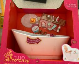 """Our Generation Bath and Bubbles set for 18"""" Dolls New Free S"""