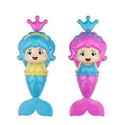 PGXT 2Pcs Baby Bath Clockwork Toy, Dabbling Bath Toy Wind Up