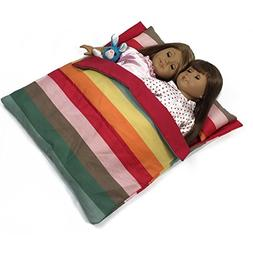 New York Doll Collection Dolls Bedding Striped Pattern Rever