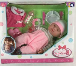 """Berenguer Boutique 15"""" Soft Body Baby Doll - Pink 10 Piece G"""