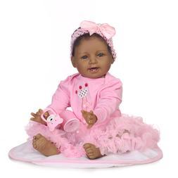 "Biracial African American Gir Reborn Baby Dolls 22"" Realisti"