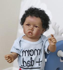 """Biracial Reborn Dolls Boy Black 22"""" African American Dolls F"""