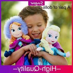 Birthday Gift 2 Pcs Frozen Elsa & Anna Disney Princess Plush