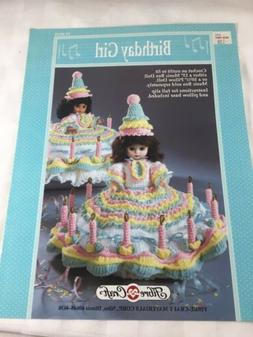 Birthday Girl Doll Costume To Crochet For 10 1/2 And 13 Inch