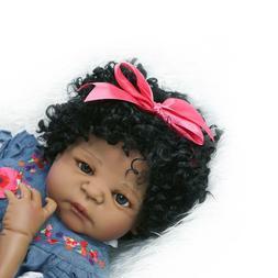 """Black Baby Doll Girl 23"""" Lifelike Reborn Toddler Dolls Afric"""