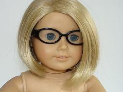 "Black Frame Glasses with Clear Lenses - Fits 18"" Dolls like"