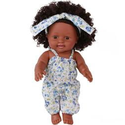 Black Girl Dolls African American Play Toys For 12 inch Baby