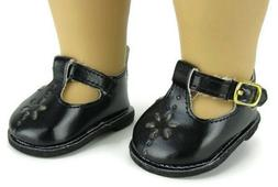 Black Mary Jane Shoes for 14.5 inch American Girl Wellie Wis