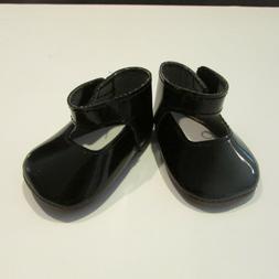 """Black Patent doll shoes for 18"""" Doll Like American Girl Batt"""