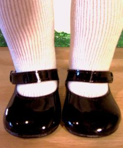 "BLACK PATENT SHOES Fits 18"" American Girl Doll, 18 Inch Doll"