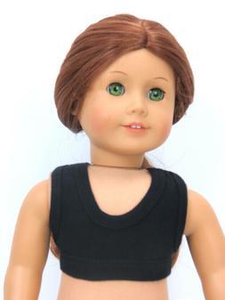 Black Sports Bra for 18'' dolls by American Fashion World