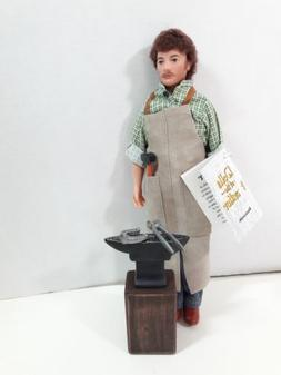 Dolls of the Frontier Blacksmith 12 inch Male doll With Acce