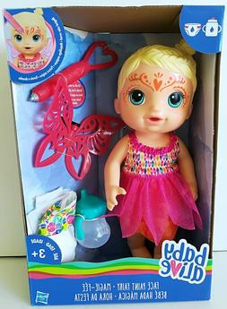 Blonde Baby Alive Face Paint Princess Fairy Maggie Fee Doll