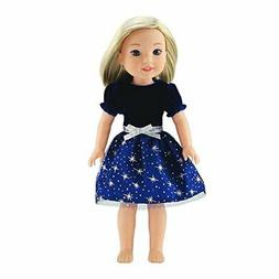 Emily Rose 14 Inch Doll Clothes Clothing | Blue Velvet Party